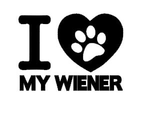 I Love My Wiener (heart)