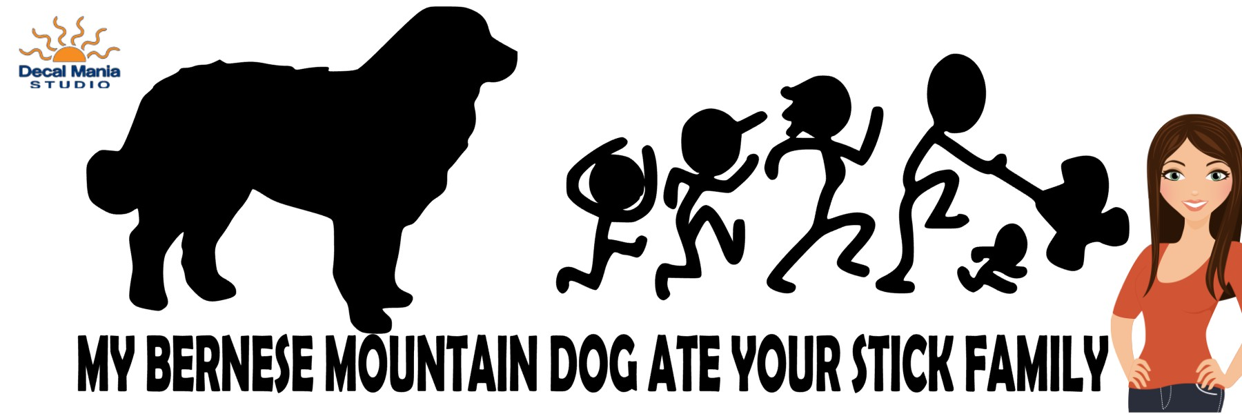 My Bernese Mountain Dog Ate Your Stick Family