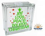 DIY Christmas Decal - Joy Peace Love