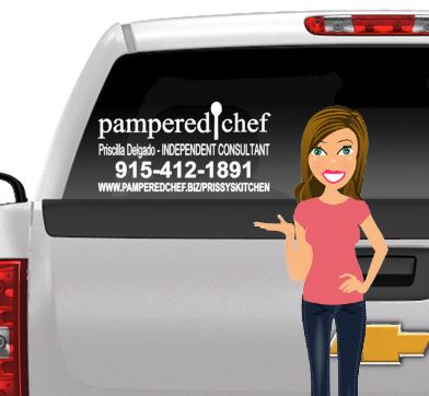 Pampered Chef Car Decal