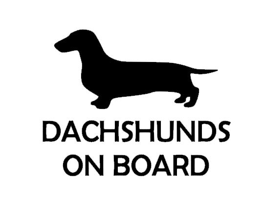 DACHSHUNDS ON BOARD - Smooth