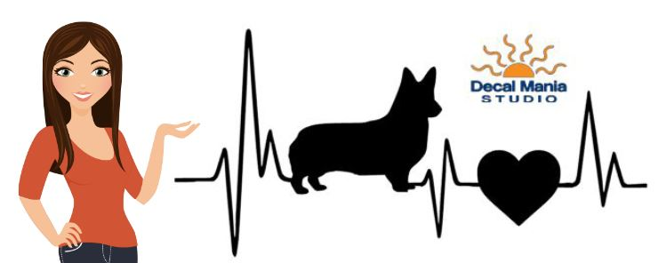 Heatbeat Decal -Corgi (no tail)