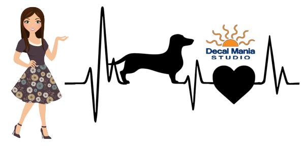 Heatbeat Decal - Short Haired dachshund