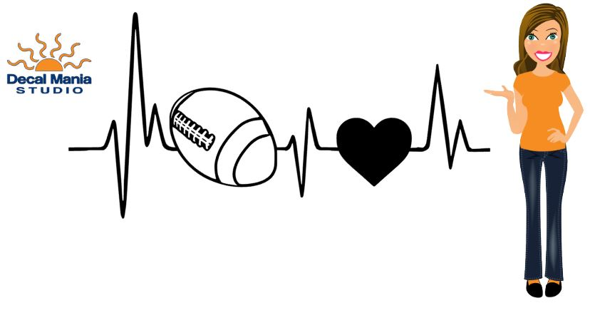 HeartBeat Decal (Football)