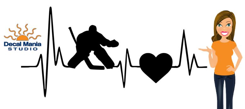 HeartBeat Decal (Goalie)