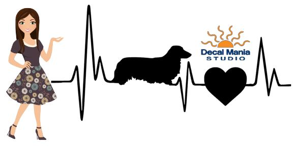 Heatbeat Decal - Long Haired dachshund