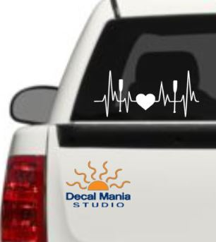 Heartbeat Paddle decals