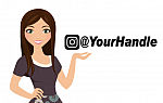 Instagram Handle Decal - Custom
