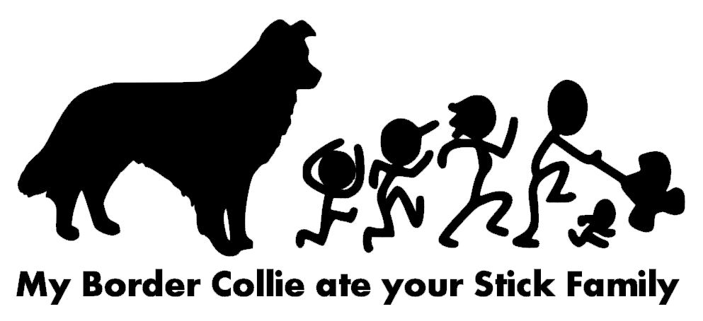 My Border Collie ate your Stick Family