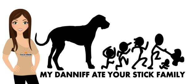 My Daniff ate your stick family