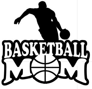 Sports Mom Decal - Basketball