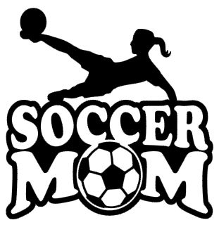 Sports Mom Decal - Soccer Girl