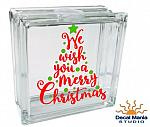 DIY Christmas Decal - We Wish you a Merry Christmas