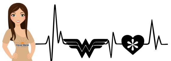 Heartbeat Decal with Wonder Woman